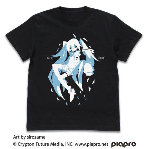 VOCALOID系列 (加大)「初音未來」sirozame Ver. 黑色 T-Shirt Hatsune Miku T-Shirt sirozame Ver. /BLACK-XL【VOCALOID Series】