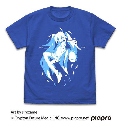 VOCALOID系列 (中碼)「初音未來」sirozame Ver. 寶藍色 T-Shirt Hatsune Miku T-Shirt sirozame Ver. /ROYAL BLUE-M【VOCALOID Series】