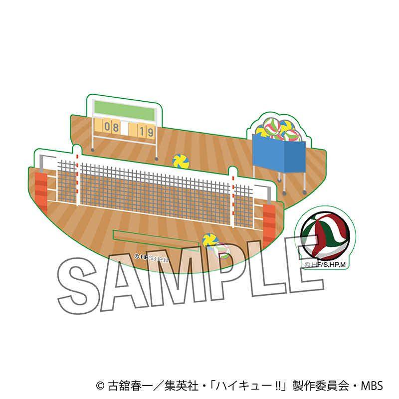 排球少年!! 熱身 Ver. 厚亞克力企牌配件 Warming Up!! Stackable Acrylic Yurayura Parts【Haikyu!!】