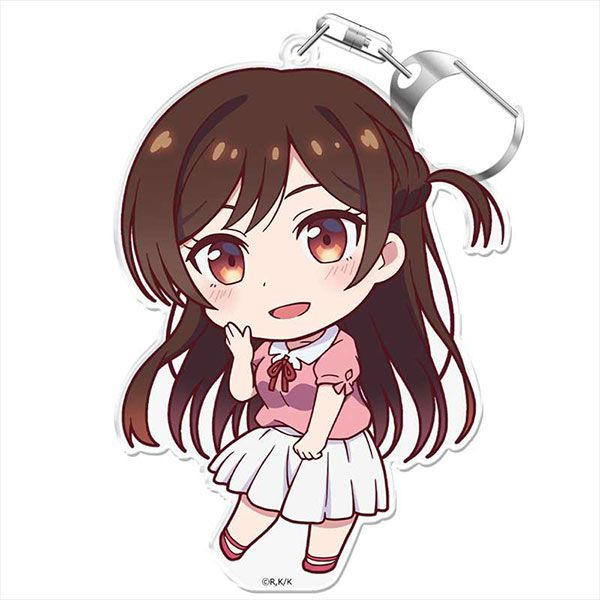 出租女友 「水原千鶴」にこれ!匙扣 (付台座) PuniColle! Key Chain (w/Stand) Chizuru Mizuhara【Rent-A-Girlfriend】