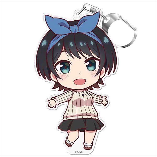 出租女友 「更科瑠夏」にこれ!匙扣 (付台座) PuniColle! Key Chain (w/Stand) Ruka Sarashina【Rent-A-Girlfriend】