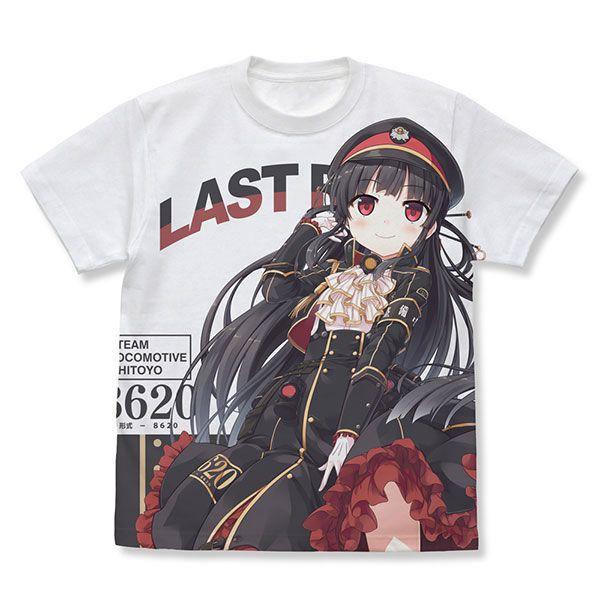 愛上火車 (加大)「八六」Last Run!!白色 T-Shirt Last Run!! Hachiroku Full Graphic T-Shirt /WHITE-XL【Maitetsu】