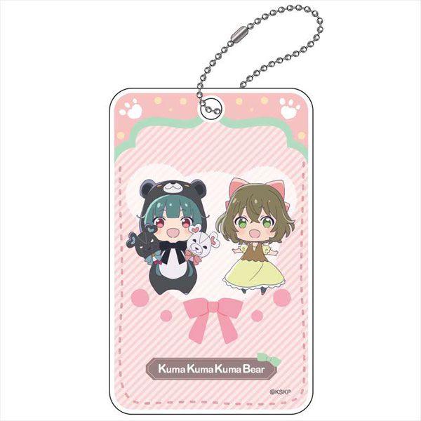 熊熊勇闖異世界 「優奈 + 菲娜」ABS 證件套 ABS Pass Case Yuna & Fina (Pink)【Kuma Kuma Kuma Bear】