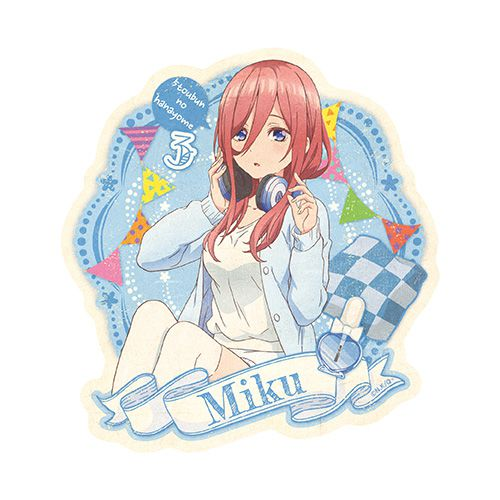 五等分的新娘 「中野三玖」家居服 行李箱 貼紙 Travel Sticker Room Wear 3 Nakano Miku【The Quintessential Quintuplets】