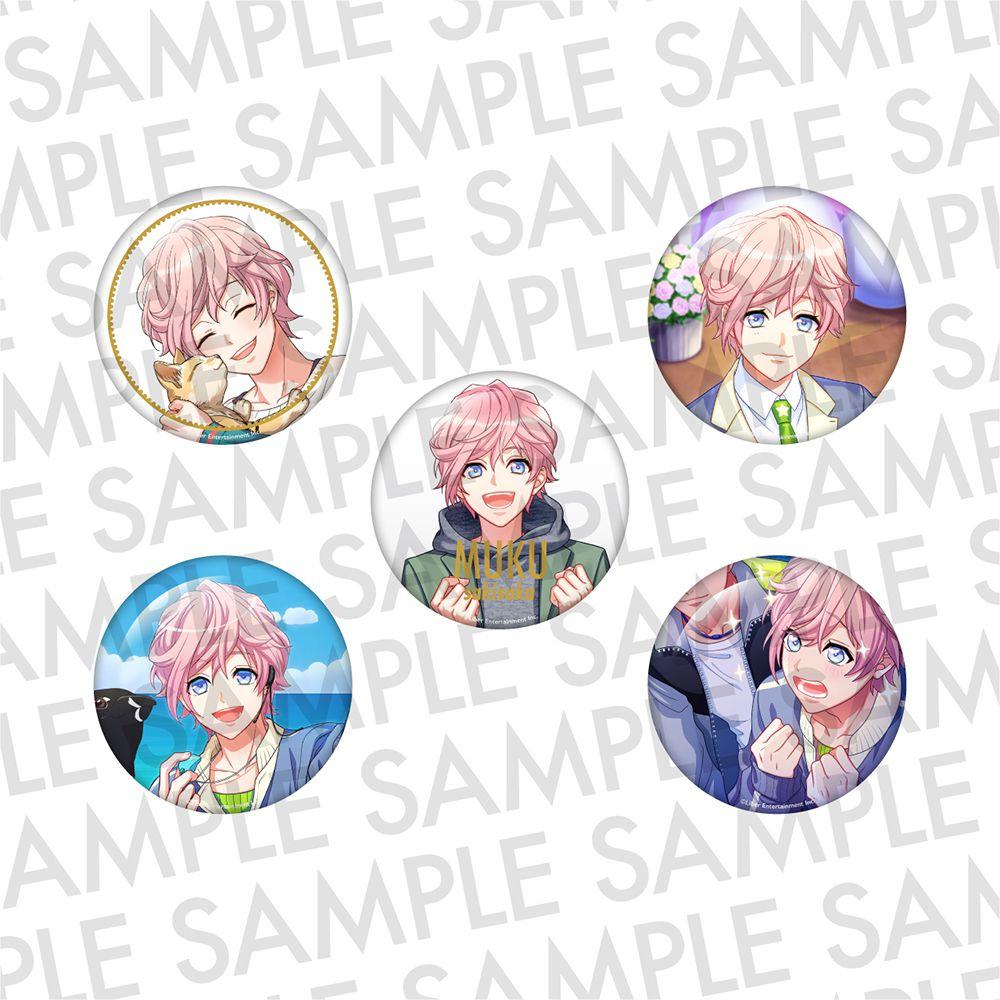 A3! 「向坂椋」推し 徽章 (1 套 5 款) Oshi Can Badge SUMMER Sakisaka Muku【A3!】
