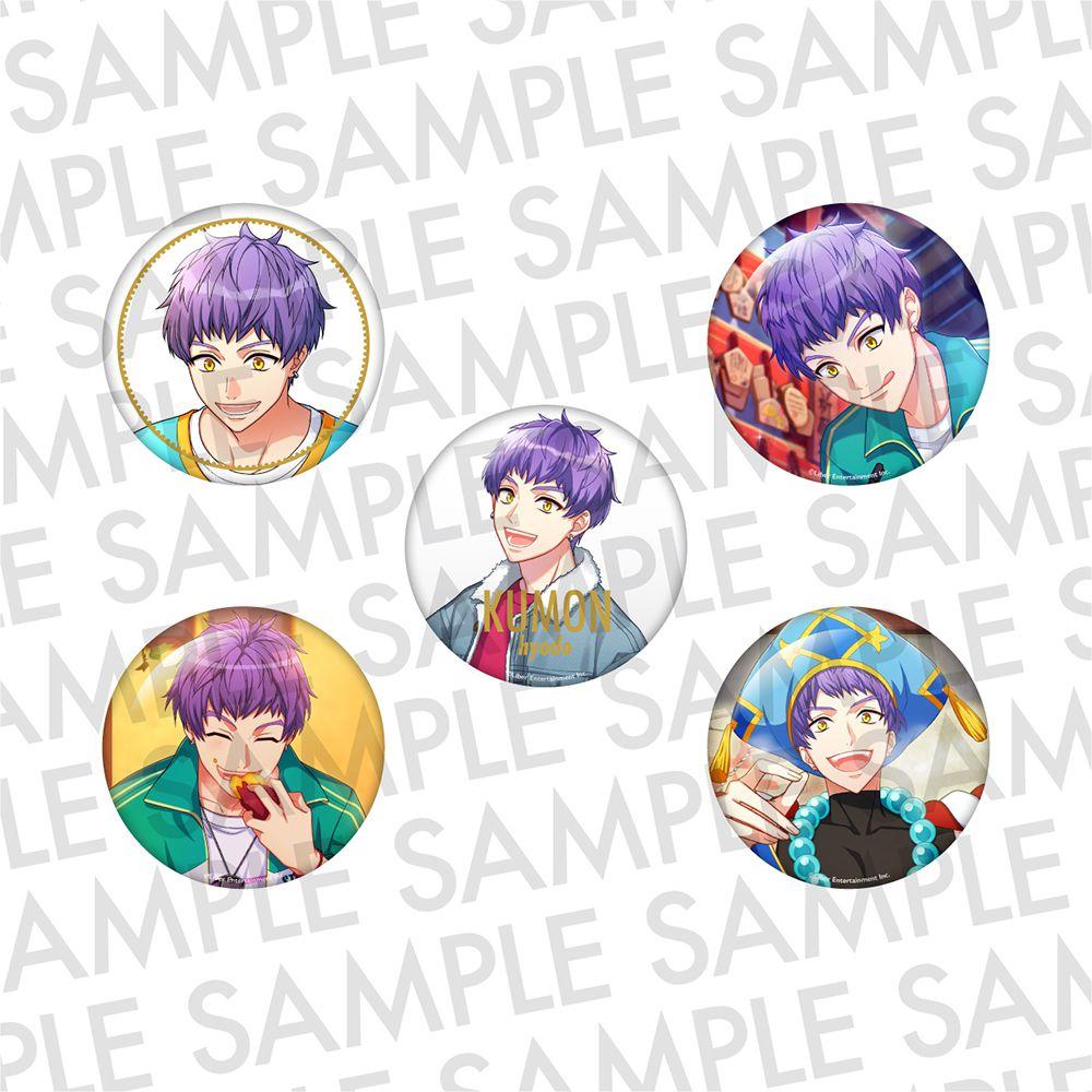 A3! 「兵頭九門」推し 徽章 (1 套 5 款) Oshi Can Badge SUMMER Hyodo Kumon【A3!】