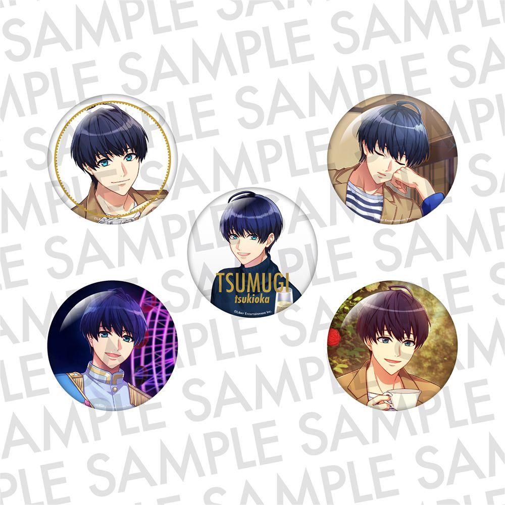 A3! 「月岡紬」推し 徽章 (1 套 5 款) Oshi Can Badge WINTER Tsukioka Tsumugi【A3!】