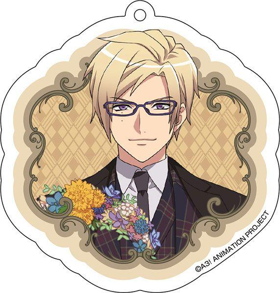 A3! 「古市左京」花 Ver. 亞克力匙扣 Acrylic Key Chain (5) Sakyo Furuichi【A3!】