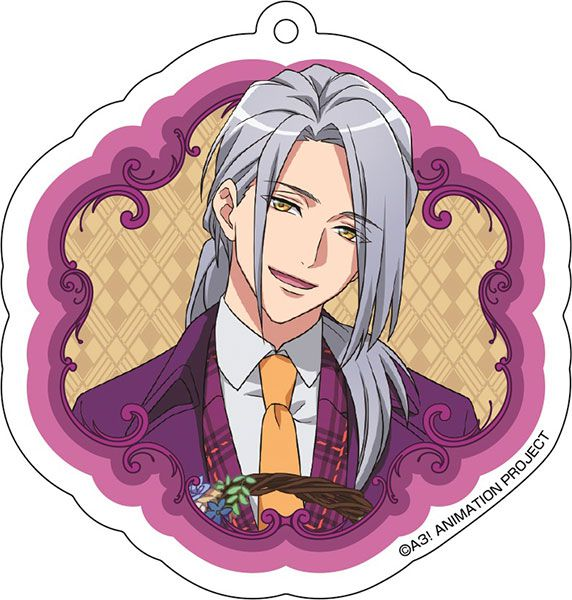 A3! 「雪白東」花 Ver. 亞克力匙扣 Acrylic Key Chain (10) Azuma Yukishiro【A3!】