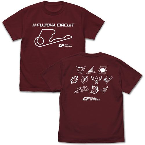高智能方程式 (中碼)「富士岡賽車場」酒紅色 T-Shirt Fujioka Circuit T-Shirt /BURGUNDY-M【Future GPX Cyber Formula】