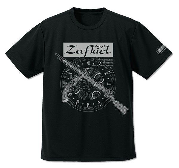 """約會大作戰 (加大)「時崎狂三」刻々帝 吸汗快乾 黑色 T-Shirt Kurumi Tokisaki """"Zafkiel"""" Dry T-Shirt /BLACK-XL【Date A Live】"""