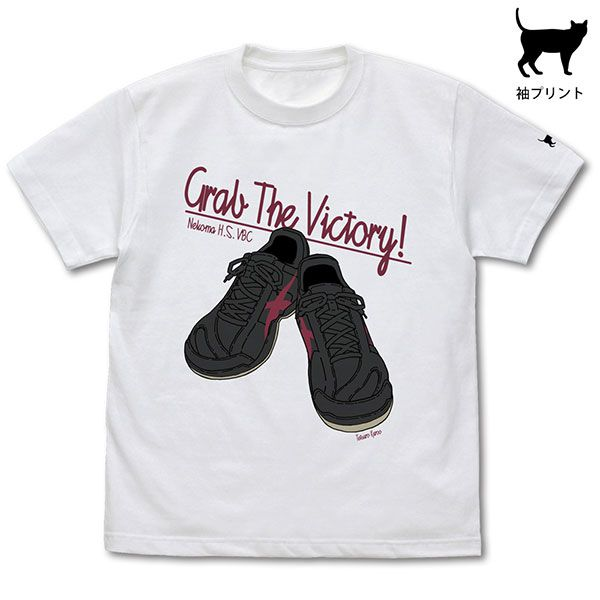 排球少年!! (加大)「黑尾鐵朗」鞋子 白色 T-Shirt Tetsuro Kuroo Shoes T-Shirt /WHITE-XL【Haikyu!!】