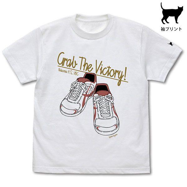 排球少年!! (加大)「孤爪研磨」鞋子 白色 T-Shirt Kenma Kozume Shoes T-Shirt /WHITE-XL【Haikyu!!】