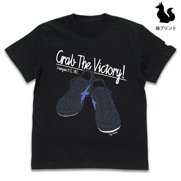 排球少年!! (加大)「宮侑」鞋子 黑色 T-Shirt Atsumu Miya Shoes T-Shirt /BLACK-XL【Haikyu!!】