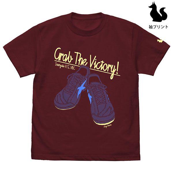 排球少年!! (加大)「宮侑」鞋子 酒紅色 T-Shirt Atsumu Miya Shoes T-Shirt /BURGUNDY-XL【Haikyu!!】
