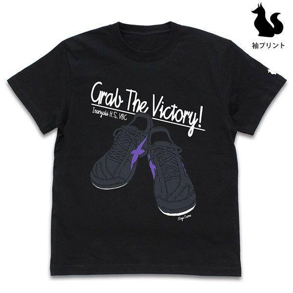 排球少年!! (加大)「宮治」鞋子 黑色 T-Shirt Osamu Miya Shoes T-Shirt /BLACK-XL【Haikyu!!】
