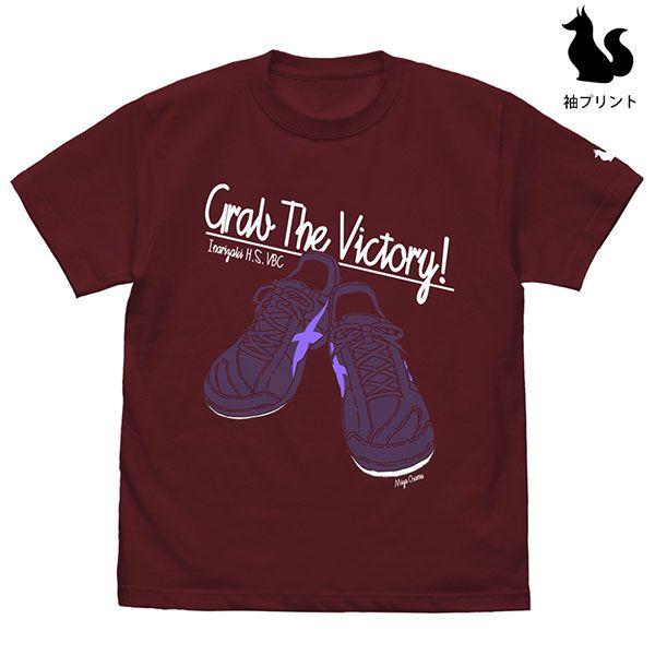 排球少年!! (加大)「宮治」鞋子 酒紅色 T-Shirt Osamu Miya Shoes T-Shirt /BURGUNDY-XL【Haikyu!!】
