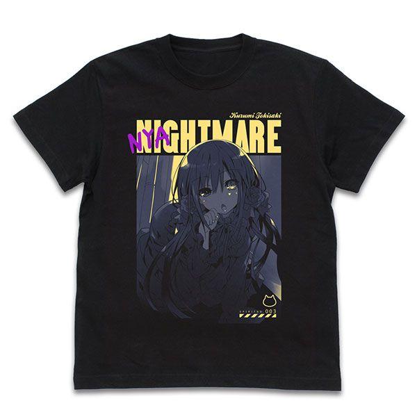 約會大作戰 (加大)「時崎狂三」貓の狂三 黑色 T-Shirt Kurumi Tokisaki T-Shirt Nyaito-mare Ver./BLACK-XL【Date A Live】