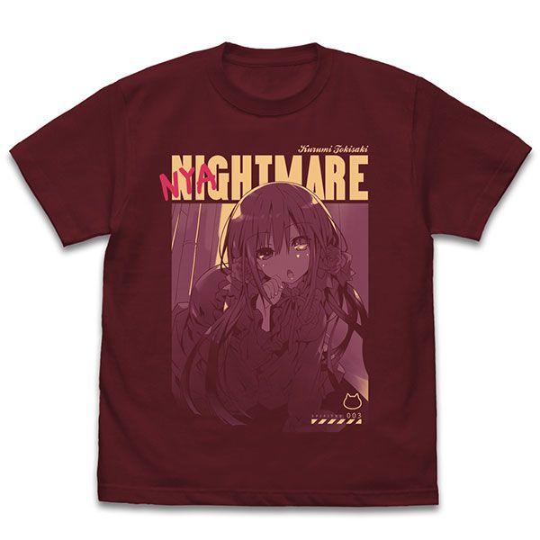 約會大作戰 (加大)「時崎狂三」貓の狂三 酒紅色 T-Shirt Kurumi Tokisaki T-Shirt Nyaito-mare Ver./BURGUNDY-XL【Date A Live】