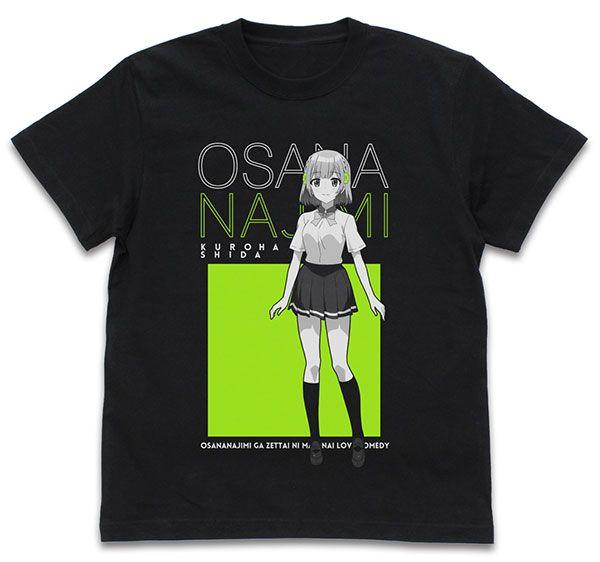 青梅竹馬絕對不會輸的戀愛喜劇 (加大)「志田黑羽」黑色 T-Shirt Kuroha Shida T-Shirt /BLACK-XL【Osananajimi ga Zettai ni Makenai Love Comedy】