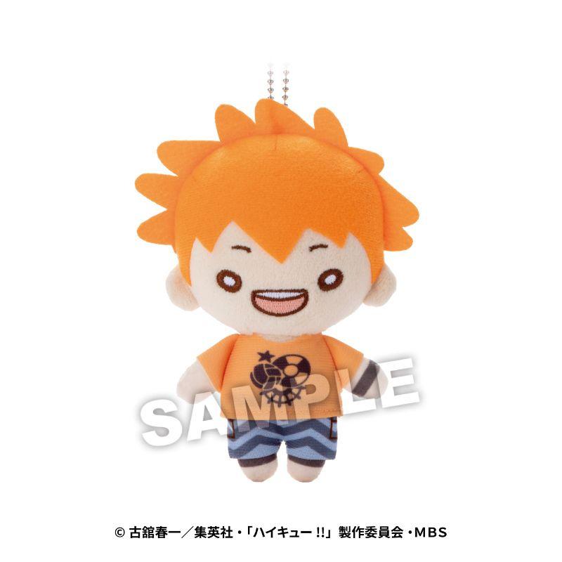 排球少年!! 「日向翔陽」沙灘排球 Ver. 豆豆眼 公仔掛飾 Nitotan Beach Volleyball Plush with Ball Chain Hinata【Haikyu!!】