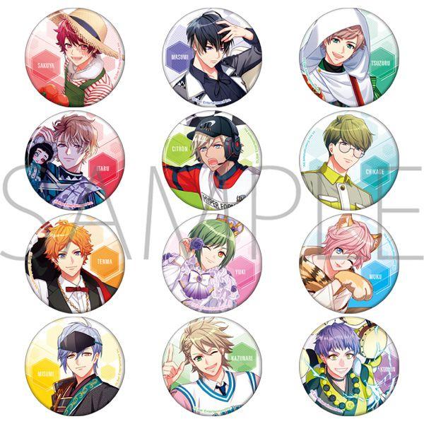 A3! 「春組 + 夏組」原作遊戲插圖 收藏徽章 (12 個入) Can Badge Spring & Summer Group Original App Game Ver. (12 Pieces)【A3!】