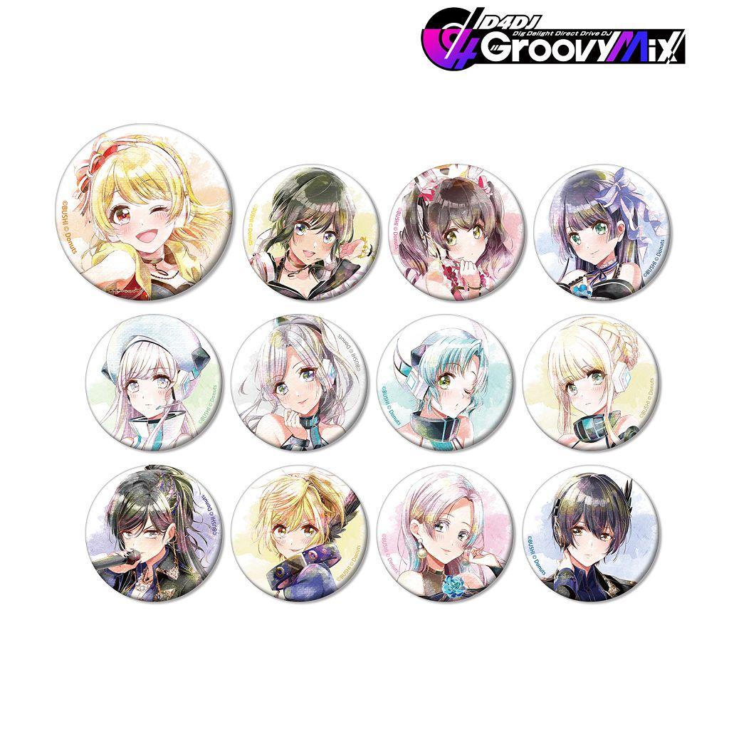 D4DJ Ani-Art aqua label 收藏徽章 Ver. A (12 個入) Ani-Art Aqua Label Can Badge Ver. A (12 Pieces)【D4DJ】