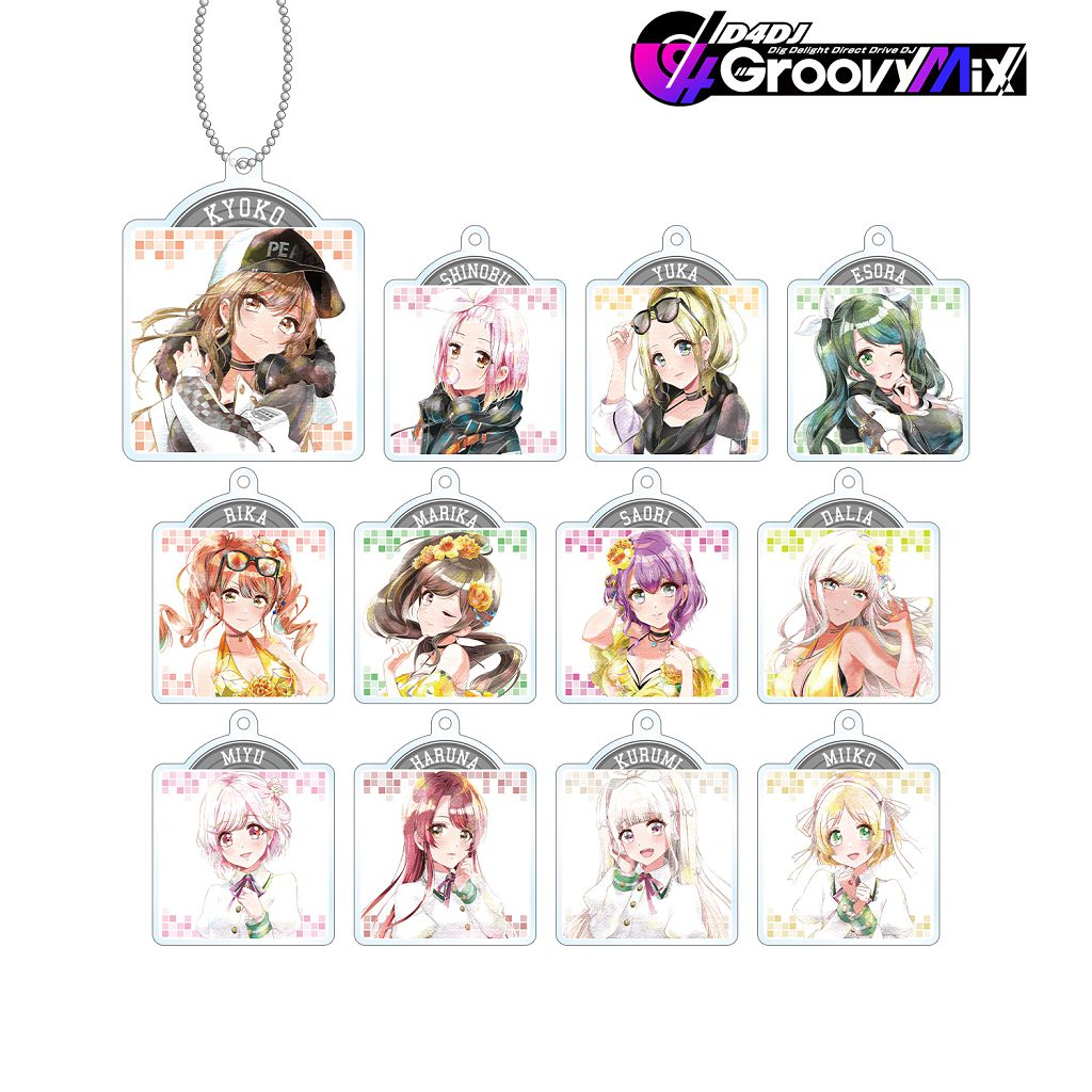 D4DJ Ani-Art aqua label 亞克力匙扣 Ver. B (12 個入) Ani-Art Aqua Label Acrylic Key Chain Ver. B (12 Pieces)【D4DJ】