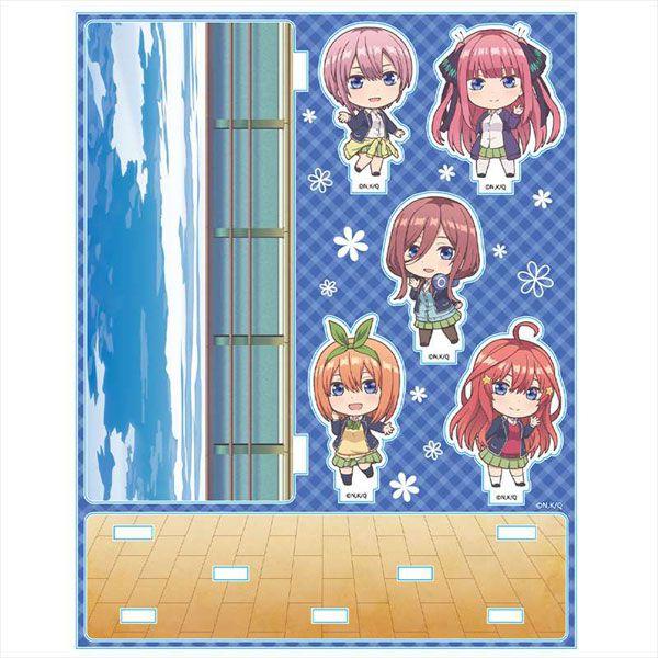五等分的新娘 「一花 + 二乃 + 三玖 + 四葉 + 五月」大海背景 亞克力企牌 Acrylic Diorama B [Ichika & Nino & Miku & Yotsuba & Itsuki]【The Quintessential Quintuplets】
