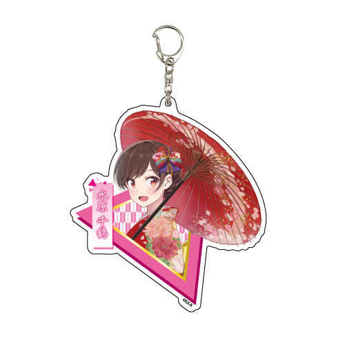 出租女友 「水原千鶴」和服 Ver. 亞克力匙扣 Deka Acrylic Key Chain 05 Mizuhara Chizuru Kimono Ver.【Rent-A-Girlfriend】