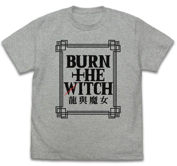 龍與魔女 (中碼)「龍與魔女」混合灰色 T-Shirt Logo T-Shirt Traditional Chinese Character Ver. /MIX GRAY-M【Burn the Witch】