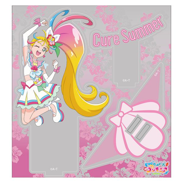 光之美少女系列 「夏海真夏 / 夏日天使」亞克力企牌 Cure Summer Acrylic Stand【Pretty Cure Series】