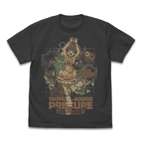 光之美少女系列 (加大)「一之瀨實 / 水果天使」墨黑色 T-Shirt Cure Papaya T-Shirt /SUMI-XL【Pretty Cure Series】
