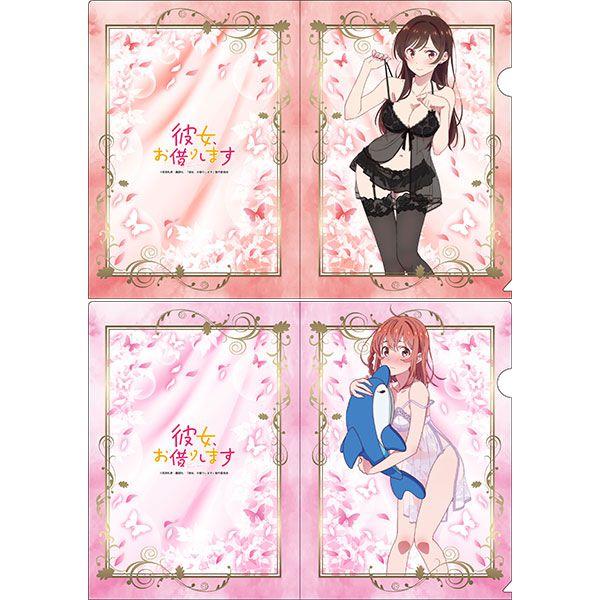 出租女友 「水原千鶴 + 櫻澤墨」家居服 A4 文件套 (1 套 2 款) New Illustration Clear File Set A【Rent-A-Girlfriend】