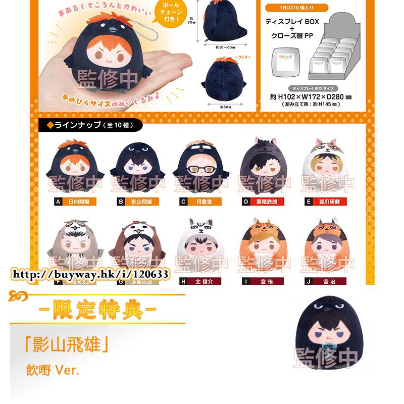 排球少年!! 手心中公仔掛飾 動物篇 (限定特典︰影山飛雄 飲嘢 Ver.) (10 + 1 個入) HQ-10 Tenorins ONLINESHOP Limited (10 + 1 Pieces)【Haikyu!!】