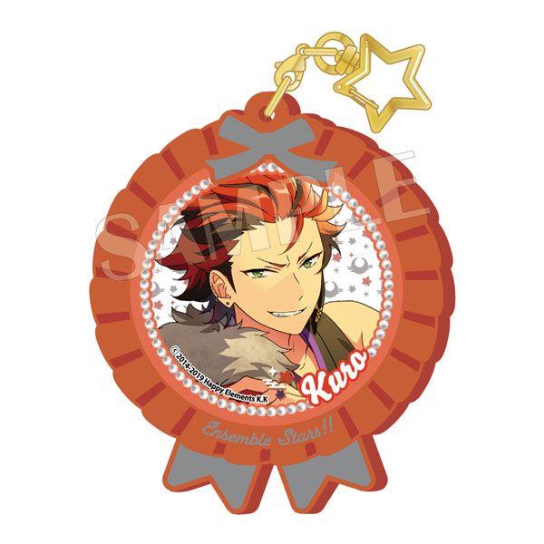合奏明星 「鬼龍紅郎」Pitatto 橡膠匙扣 Ver.2 Pitatto Key Chain Ver.2 Kuro Kiryu【Ensemble Stars!】