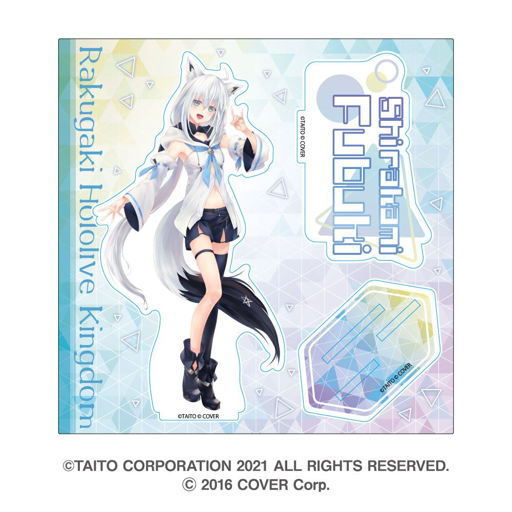 虛擬偶像 「白上吹雪」hololive 亞克力企牌 Rakugaki Kingdom Hololive Acrylic Stand Shirakami Fubuki【Virtual YouTuber】