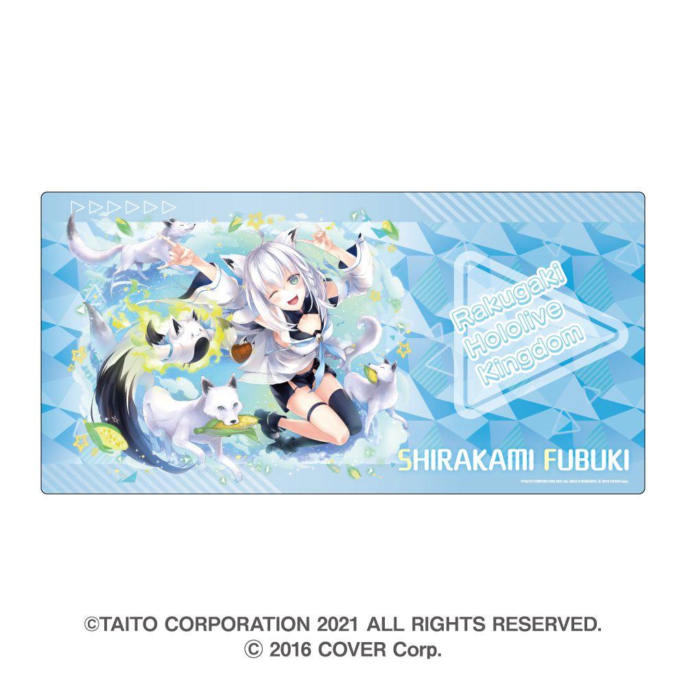 虛擬偶像 「白上吹雪」滑鼠墊 Rakugaki Kingdom Hololive Gaming Mouse Pad Shirakami Fubuki【Virtual YouTuber】