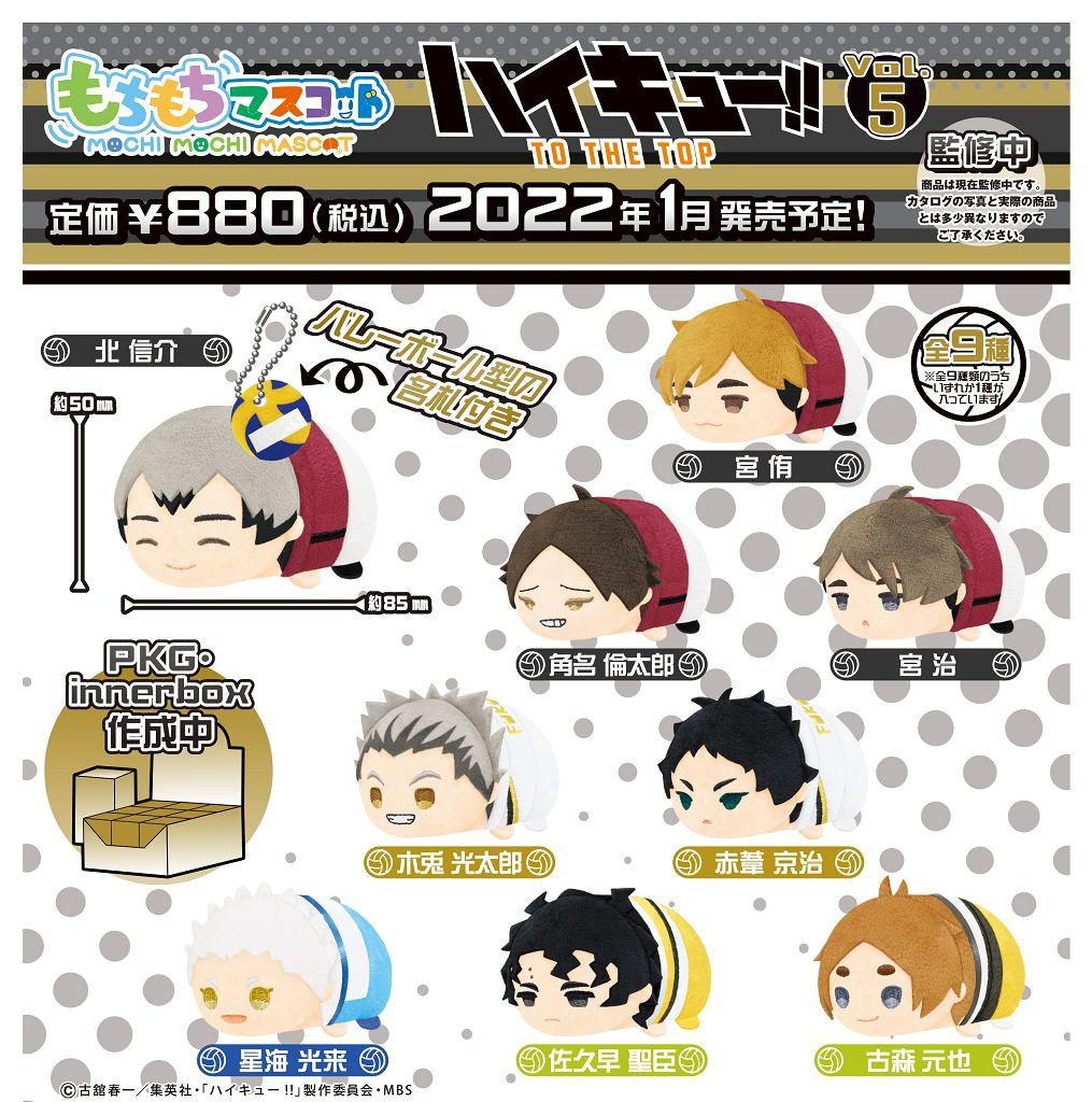 排球少年!! 團子趴趴公仔 掛飾 Vol.5 (9 個入) Mochimochi Mascot Vol. 5 (9 Pieces)【Haikyu!!】