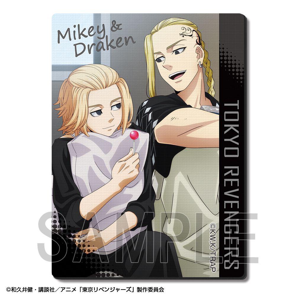 東京復仇者 「佐野萬次郎 + 龍宮寺堅」聊天 橡膠滑鼠墊 Rubber Mouse Pad Design 09 Sano Manjiro & Ryuguji Ken B【Tokyo Revengers】