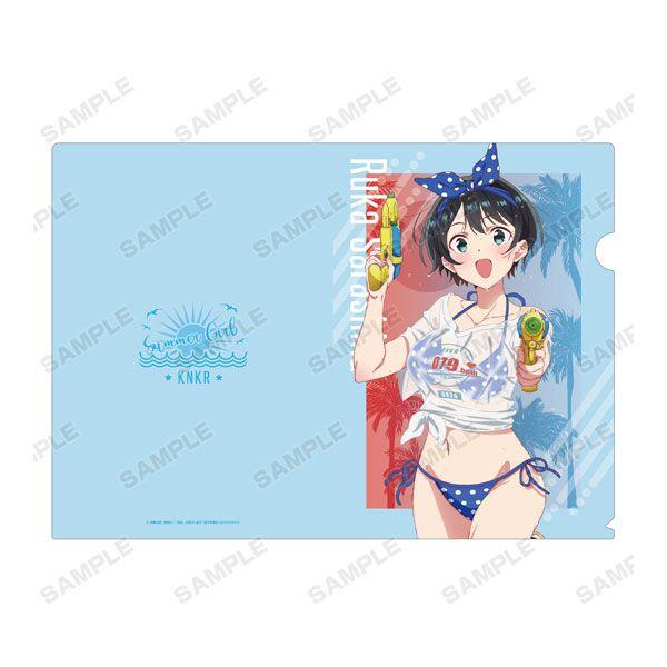 出租女友 「更科瑠夏」沙灘水槍 Ver. A4 文件套 TV Anime New Illustration Ruka Sarashina Beach Date ver. Clear File【Rent-A-Girlfriend】