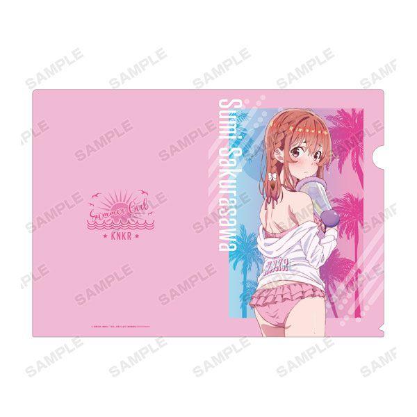 出租女友 「櫻澤墨」沙灘水槍 Ver. A4 文件套 TV Anime New Illustration Sumi Sakurasawa Beach Date ver. Clear File【Rent-A-Girlfriend】