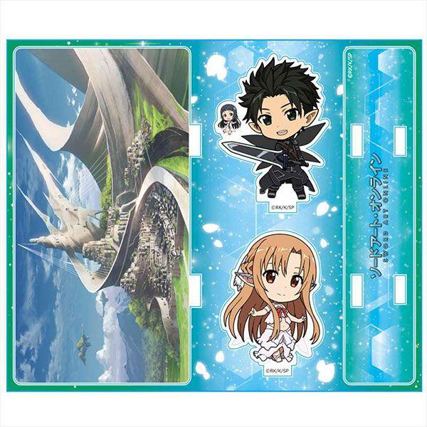 刀劍神域系列 「桐谷和人 + 亞絲娜 + 結衣」精靈之舞篇 亞克力背景企牌 Acrylic Diorama B [Kirito & Asuna & Yui] [Fairy Dance]【Sword Art Online Series】