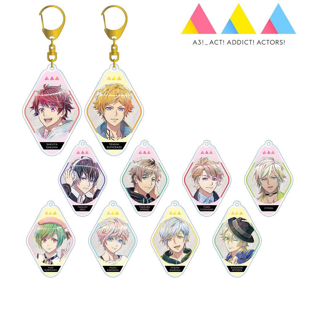 A3! 「春組 + 夏組」Ani-Art 亞克力匙扣 (10 個入) TV Animation Ani-Art Acrylic Key Chain Spring Troupe & Summer Troupe Ver. (10 Pieces)【A3!】