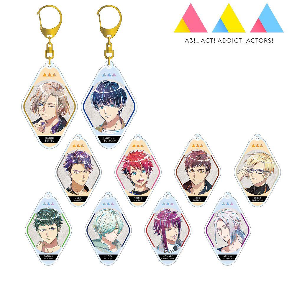 A3! 「秋組 + 冬組」Ani-Art 亞克力匙扣 (10 個入) TV Animation Ani-Art Acrylic Key Chain Autumn Troupe & Winter Troupe Ver. (10 Pieces)【A3!】