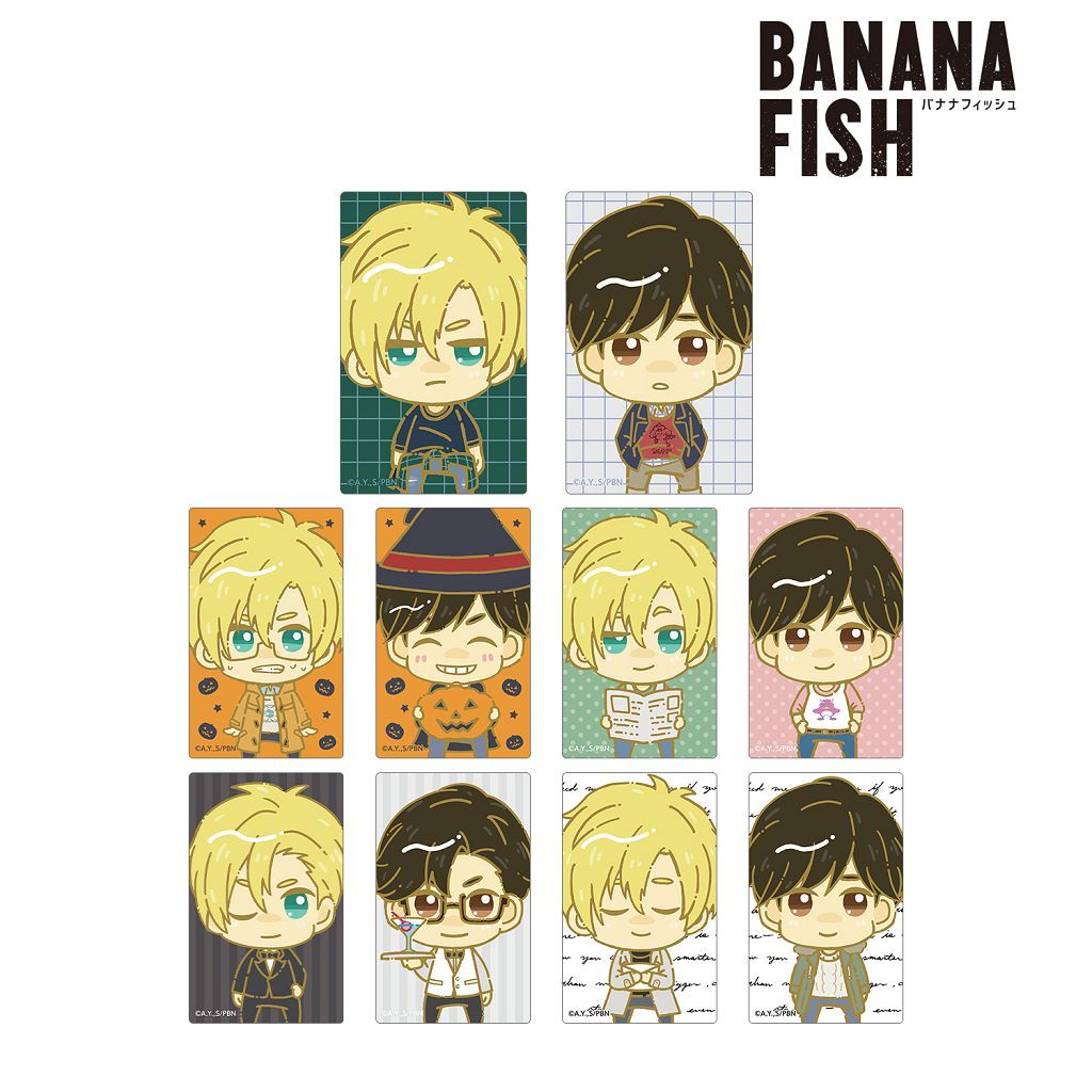 Banana Fish 咭貼紙 (10 個入) Chokonto! Card Sticker (10 Pieces)【Banana Fish】