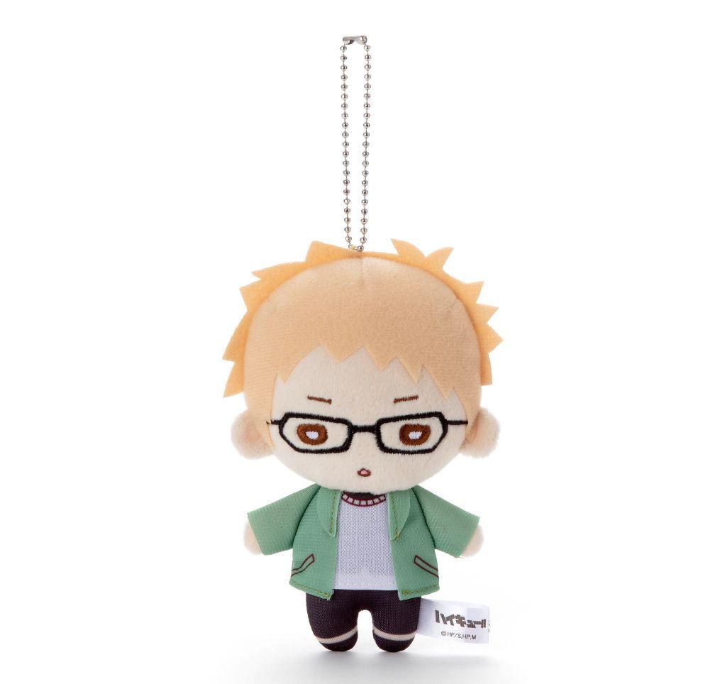 排球少年!! 「月島螢」冬裝 豆豆眼 公仔掛飾 Nitotan Winter Casual Wear Plush with Ball Chain Tsukishima【Haikyu!!】