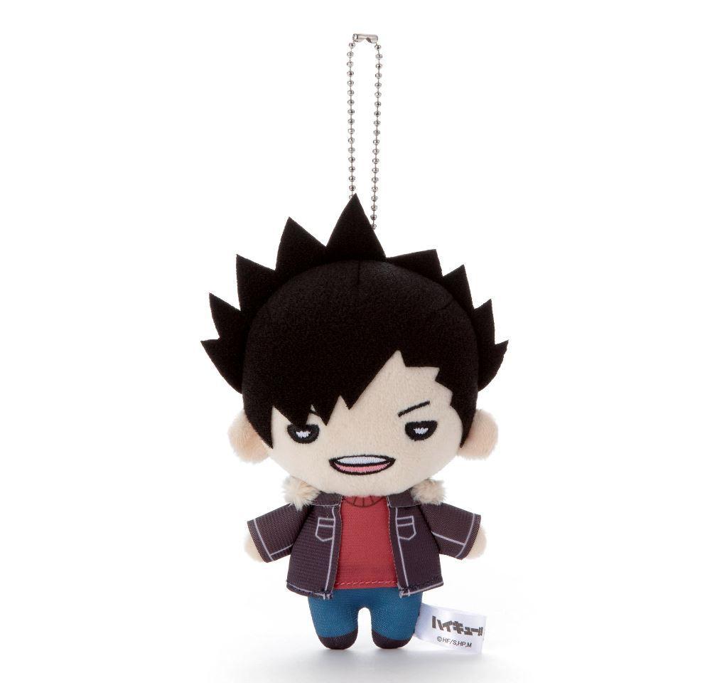 排球少年!! 「黑尾鐵朗」冬裝 豆豆眼 公仔掛飾 Nitotan Winter Casual Wear Plush with Ball Chain Kuroo【Haikyu!!】