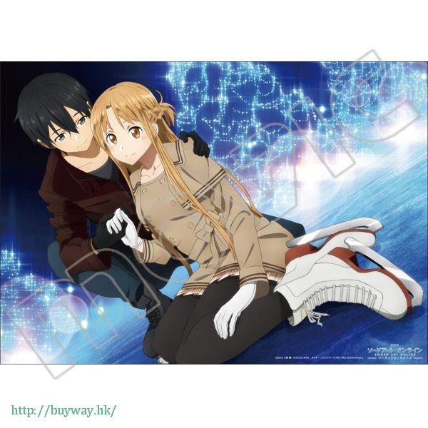 刀劍神域系列 「桐谷和人 + 亞絲娜」透明海報 溜冰 ver. Mini Clear Poster A【Sword Art Online Series】