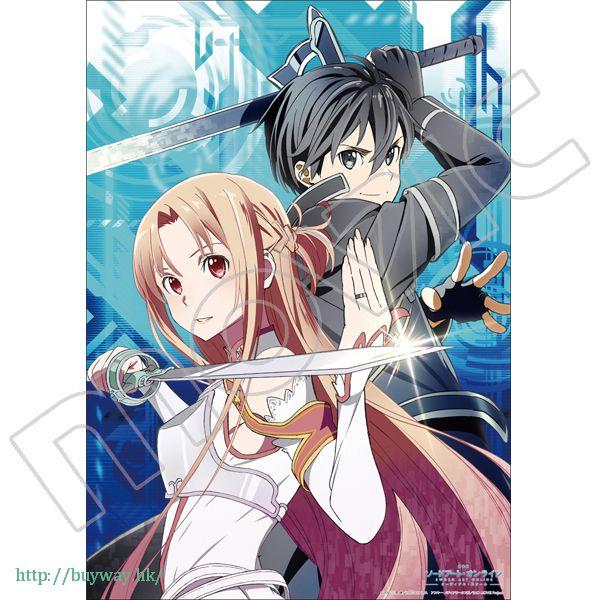刀劍神域系列 「桐谷和人 + 亞絲娜」透明海報 迎戰 ver. Mini Clear Poster B【Sword Art Online Series】